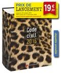"""Laurent Leveneur - Code civil - Jaquette """"Panthère"""" amovible."""