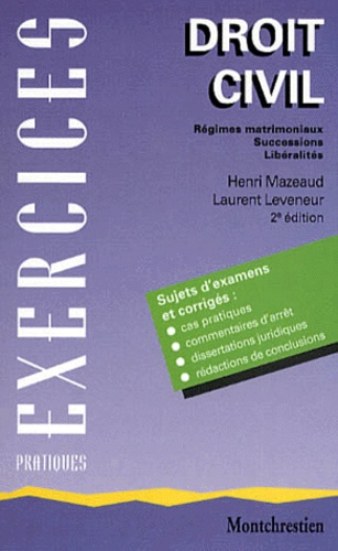 Laurent Leveneur et Henri Mazeaud - .