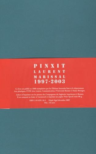 Laurent Marissal - Pinxit 1997-2003.