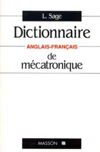 Coachingcorona.ch Dictionnaire de mécatronique - Anglais-français Image