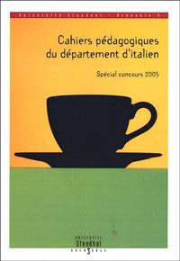 Cahiers pédagogiques du département d'italien- Spécial concours 2005 - Laurent Scotto d'Ardino | Showmesound.org