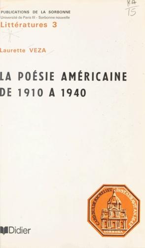 La poésie américaine de 1910 à 1940