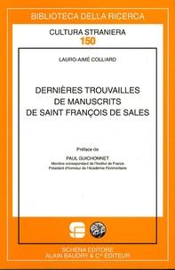 Lauro-Aimé Colliard - Dernières trouvailles de manuscrits de saint François de Sales.