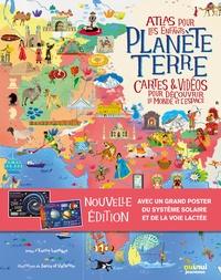 Planete Terre - Atlas pour les enfants- Cartes & vidéos pour découvrir le monde et l'espace - Lavagno Enrico pdf epub