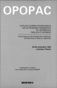 Lavallee et  Parker - Actes des Journées internationales sur les problèmes fondamentaux de l'informatique parallèle et distribuée - 23-26 novembre 1993, Lacanau, France.