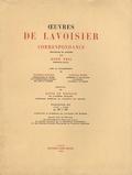 Lavoisier - Oeuvres de Lavoiser - Correspondance Tome 3, 1776-1783.