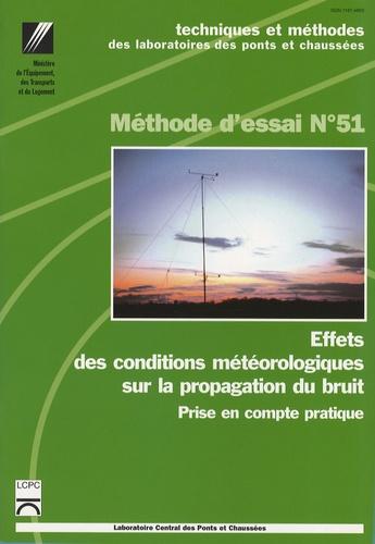 LCPC - Effets des conditions météorologiques sur la propagation du bruit - Prise en compte pratique.