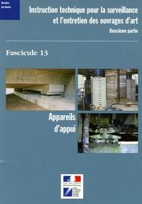 LCPC - Instruction technique pour la surveillance et l'entretien des ouvrages d'art - Fascicule 13, Appareils d'appui.