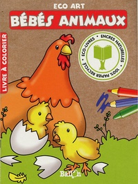 Le Ballon - Bébés animaux - Livre à colorier.