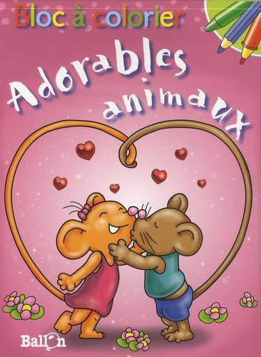Le Ballon - Bloc à colorier : Adorables animaux.