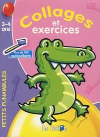 Le Ballon - Collages et exercices crocodile - 3-4 ans.