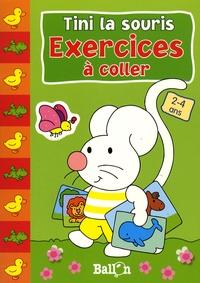 Le Ballon - Tini la souris Exercices à coller 2-4 ans.