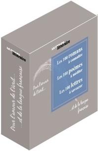 Le Figaro littéraire - Pour l'amour de l'écrit... et de la langue française - Coffret en 3 volumes : Les 100 romans à connaître ; Les 100 poèmes à méditer ; Les 100 lettres à savourer.