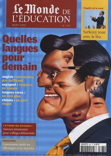 Brigitte Perucca - Le Monde de l'Education N° 367, Mars 2008 : Quelles langues pour demain.