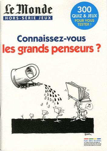 Arnaud Léonard - Le Monde Hors-série jeux : Connaissez-vous les grands penseurs ?.