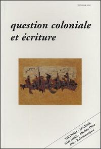 Martine Sagaert et François Desplanques - Les Carnets de l'exotisme N° 14, 2e semestre 1 : Question coloniale et écriture.