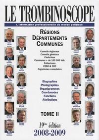 Deedr.fr Le Trombinoscope 2008-2009 - Tome 2, Régions, départements, communes Image