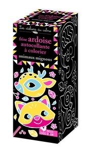 Léa Fabre - Frise ardoise autocollante à colorier animaux mignons.