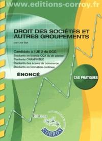 Deedr.fr Droit des sociétés et autres groupements UE 2 du DCG - Enoncé Image