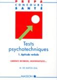 Leal Matos - TESTS PSYCHOTECHNIQUES. - Volume 1, Aptitude verbale.