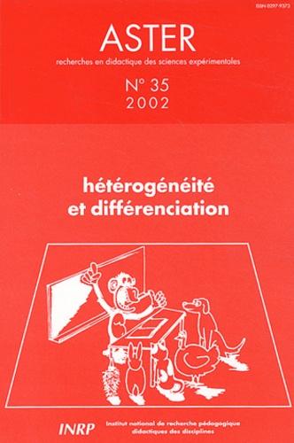 LEBEAUME JOEL, COQUI - Aster N° 35/2002 : Hétérogénéité et différenciation.