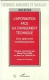 Leboulch - L'information face au changement technique - Une approche multidisciplinaire.