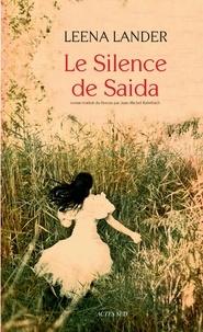 Leena Lander - Le silence de Saida.