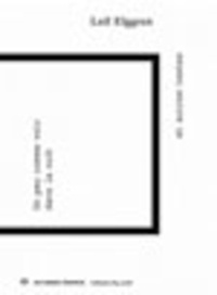 Leif Elggren - Un peu comme voir dans la nuit et autres textes. 1 CD audio