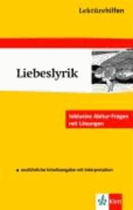 "Lektürehilfen ""Liebeslyrik"" - Sekundarstufe II."