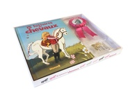 Lenia Major et Ella Coalman - 15 histoires de chevaux - Avec 1 collier doré avec un pendentif, un flow rose, une carte d'identité pour ton cheval, une pancarte pour ton box, des stickers.