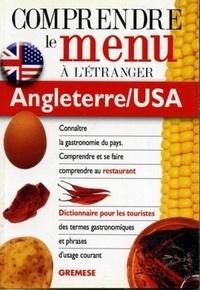 Lenore Rosenberg - Dictionnaire du menu pour le touriste, Angleterre/USA - Pour comprendre et se faire comprendre au restaurant.