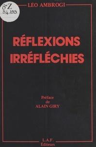 Léo Ambrogi - Réflexions irréfléchies.