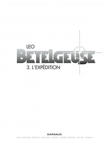 Bételgeuse Tome 3 L'expédition