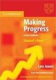 Leo Jones - Making progress to first certificate student's book.