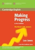 Leo Jones - Making progress to first certificate workbook with answers.