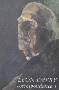 Léon Émery et Jean-Pierre Chabanne - Correspondance (1).