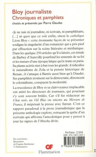 Bloy journaliste. Chroniques et pamphlets