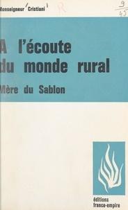 Léon Cristiani et Alfred Ancel - À l'écoute du monde rural, une grande fondatrice, mère du Sablon, 1799-1864.