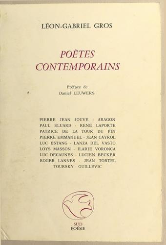 Poètes contemporains