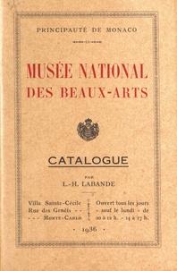 Léon-Honoré Labande - Musée national des beaux-arts - Catalogue.