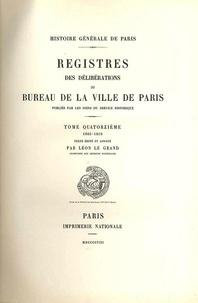 Ucareoutplacement.be Registre des délibérations du bureau de la Ville de Paris - Tome 14, 1605-1610 Image