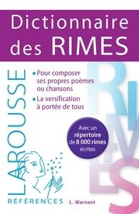 Léon Warnant - Dictionnaire des rimes.