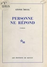 Léonie Bruel - Personne ne répond.