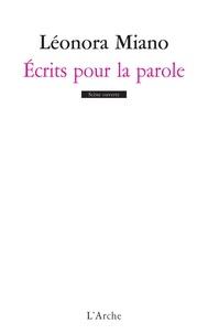 Léonora Miano - Ecrits pour la parole.