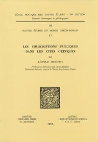 Léopold Migeotte - Les souscriptions publiques dans les cités grecques.