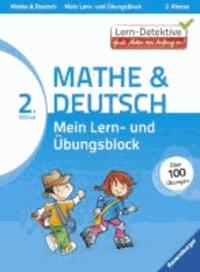 Lern-Detektive: Mein Lern- und Übungsblock Mathe & Deutsch 2. Klasse.