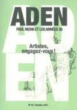 Guy Palayret - Aden N° 10, octobre 2011 : Artistes, engagez-vous !.