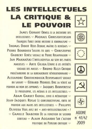Thierry Discepolo et Charles Jacquier - Agone N° 41/42, 2009 : Les intellectuels, la critique & le pouvoir.