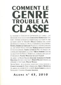 Thierry Discepolo et Gilles Le Beuze - Agone N° 43, 2010 : Comment le genre trouble la classe.