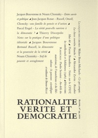 Thierry Discepolo et Jean-Jacques Rosat - Agone N° 44/2010 : Rationalité, vérité et démocratie.